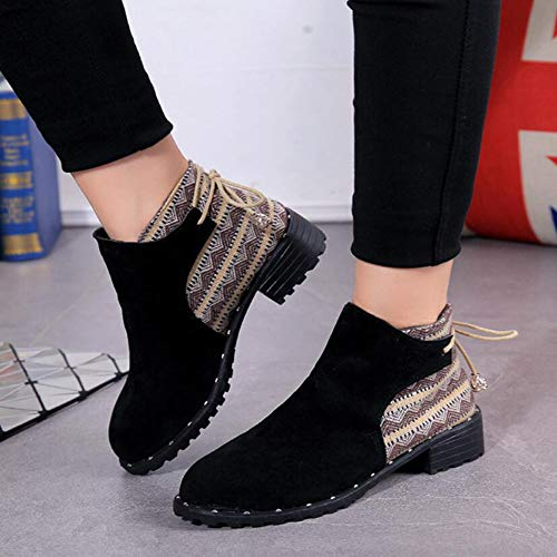 Winter Lace und KUKI Stiefel Lässige Stiefel Fashion Boots Damenstiefel Herbst Snow Boots Stiefel Fashion Damenstiefel Martin Frostete trwqvrEf