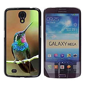 FlareStar Colour Printing Hummingbird Tiny Cute Tropical Exotic cáscara Funda Case Caso de plástico para Samsung Galaxy Mega 6.3 / i9200 / SGH-i527