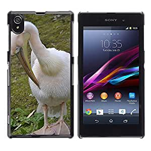 Super Stella Slim PC Hard Case Cover Skin Armor Shell Protection // M00144767 Pelikan Bird Nature Animal Bill // Sony Xperia Z1 L39 C6903 C6906 C6943 C6902