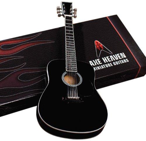 Axe Heaven AC-003 Acoustic Classic Black Finish Miniature Guitar Replica - Miniature Guitar Shop