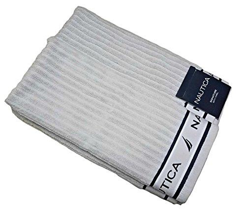 Nautica Cotton Bath Towel (Nautica 100% Cotton Signature Bath Towel 2pcs Set)