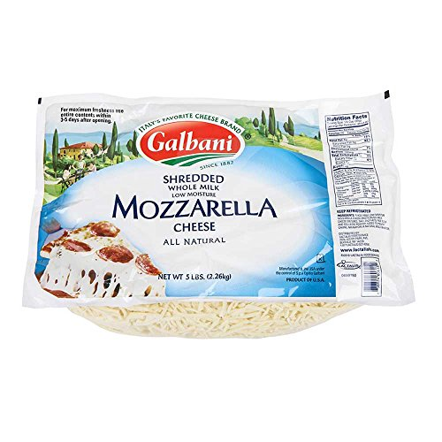 Galbani Whole Milk Low Moisture Mozzarella Cheese, 5 Pound -- 6 per case. by Galbani (Image #1)