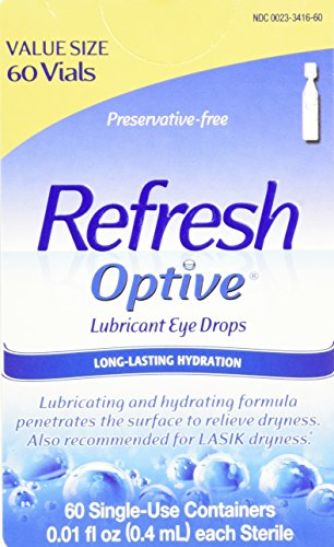 Allergan Optive Sensitive Preservative-Free Lubricant Eye Drops, 60