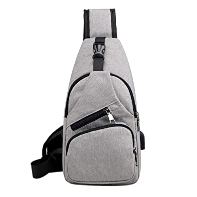 Fashion Men/'s Chest Messenger Sling Backpack Bag Casual Shoulder Crossbody Bag