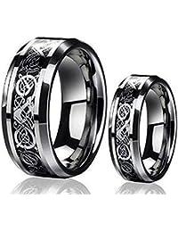 tungsten ring set - Tungsten Wedding Ring Sets