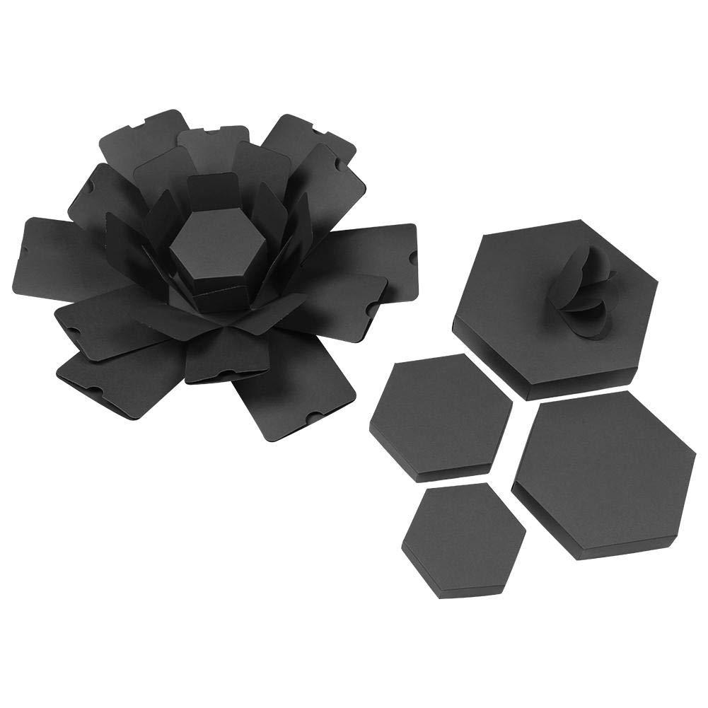 /Álbum de Fotos Hexagonal DIY Regalo de Caja de Scrapbooking Everpertuk Explosion Box Caja Creativa