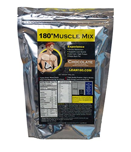 Cheap 180 Muscle Mix, Best Weight Loss Protein Shake for Men, Burns Fat, Helps Build Muscle, Boosts Energy, Tastes Great, 31 Shakes per Bag (Chocolate)