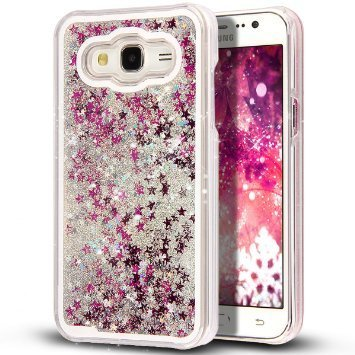 low priced 8611c 64ffb Samsung Galaxy J2- Liquid 3D Bling Glitter Star Cover: Amazon.in ...