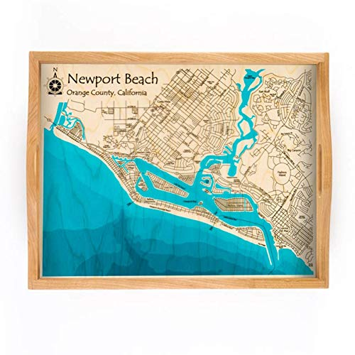 Long Lake Lifestyle Sodus Bay - Wayne County - NY - Multicolor Serving Tray 14 x 18 in - Multicolor Print Nautical Chart and Topographic Depth map.