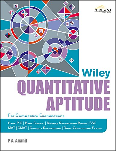 Buy Wiley's Quantitative Aptitude Book Online at Low Prices