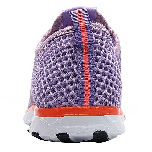 Aleader Mujeres Quick Drying Aqua Water Zapatos Purple
