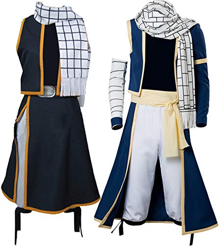 (Cosplaysky Fairy Tail Natsu Costume Dragneel Cosplay Halloween Outfit)