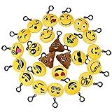Asien 24Pack Emoji Keychain Mini Plush Lovely Emoticon Key Ring Emoji Toy Gift for Kids