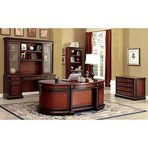 (Furniture of America CM-DK6255DO Strandburg Oval Office Writing Desks)