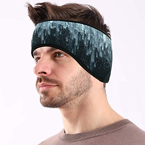 Winter Sport Warmes Stirnband für Damen und Herren, Ohrenwärmer Stirnbänder Ohrenschützer Warm Headband for Laufen, Wandern, Fahrrad und Motorrad Fahren(2 Packungen)