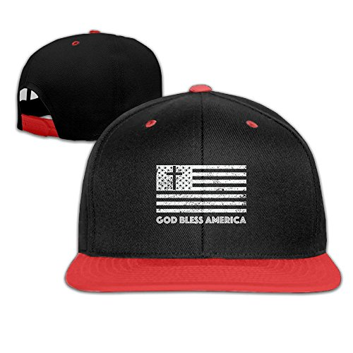 God Bless The USA Patriotic Adjustable Unisex Hip Hop Baseball Hat Stylish Snapback Hats For Boy Girl One Size