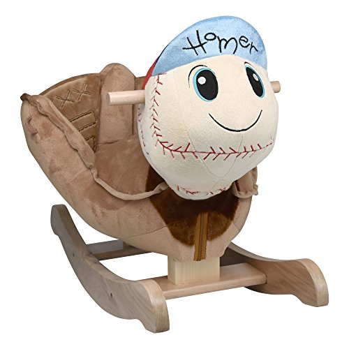Rockabye Homer Baseball Rocker, Blue