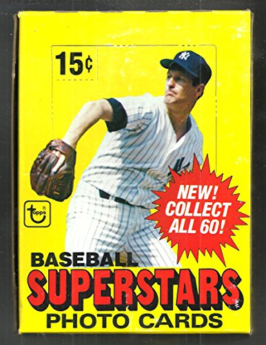 1980 TOPPS BASEBALL SUPERSTAR 5X7 PHOTO CARDS BOX 48 PICTURES/ BOX FROM NEW (1980 Topps Card Photo)