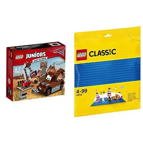 [해외] 레고 (LEGO) 쥬니어 디즈니 Cars/카 미터의 정크 야드 10733 & 클래식 기초 판(블루) 10714