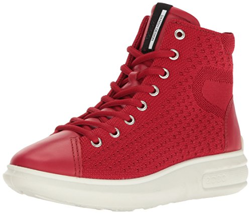 Red 3 Chili ECCO Red Sneaker Soft Women's Fashion Chili wgnxAYaS