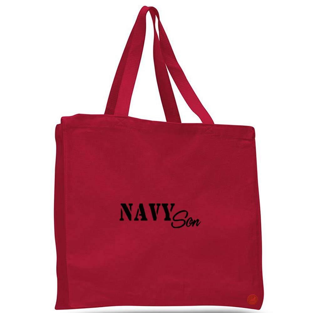 Navy Son Canvas Tote Bag Cotton messenger b21094 navy