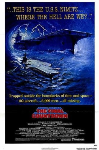 The Final Countdown Kirk Douglas Martin Sheen Original Single Sided Rolled 27x41 Movie Poster 1980
