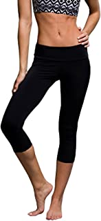 product image for Onzie Hot Yoga Mesh Inset Tuxedo Capri 246 Black