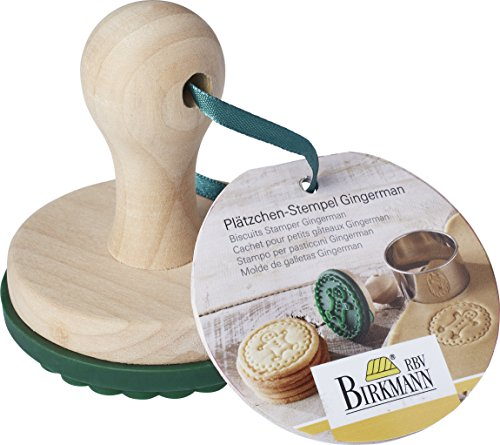 Birkmann 4026883340275 Cookie Stamp Gingerbread Man Ø 7 cm, one size
