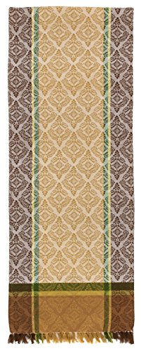 Traders and Company 100% Cotton Beige Brown & Green 12