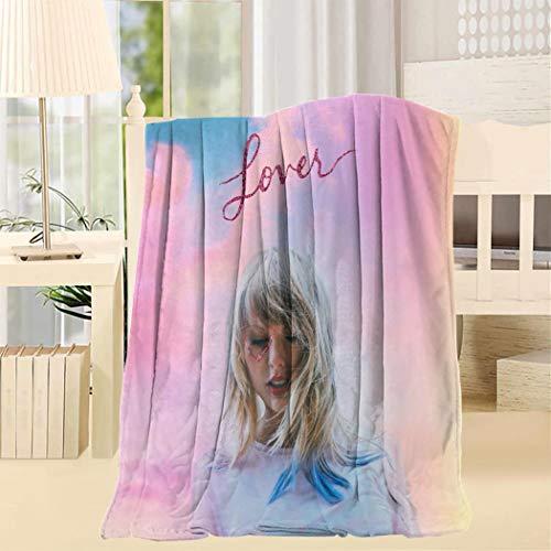 BYRONS Tay-lor Swi-ft 3D Pattern Printed Super Soft Hypoallergenic Bed Blanket Fleece Woolen Blanket Microfiber Blanket (King Taylor Couch)