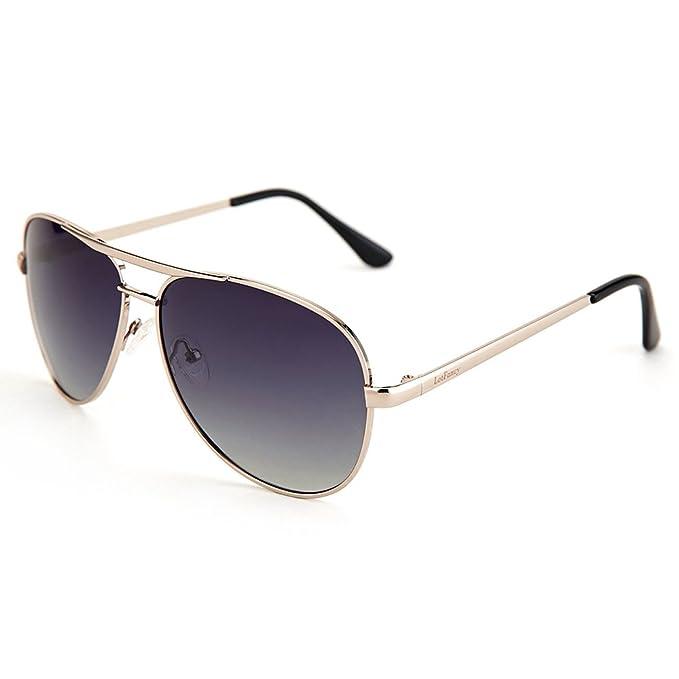LotFancy Aviator Gafas de sol para hombres/mujeres con gafas para el sol caso,