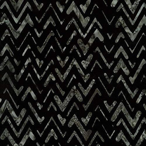(Robert Kaufman Texture Study Artisan Batiks Black Bali Chevrons)