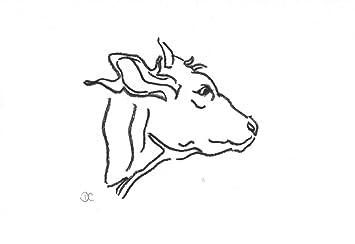 De piel de vaca - de vista - gris de dibujo A6 tamaño + soporte: Amazon.es: Hogar
