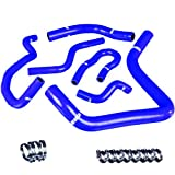 Upgr8 Honda Acura B16A B16B B18A B18B High Performance 4-ply Radiator and Heater Silicone Hose Kit (Blue)