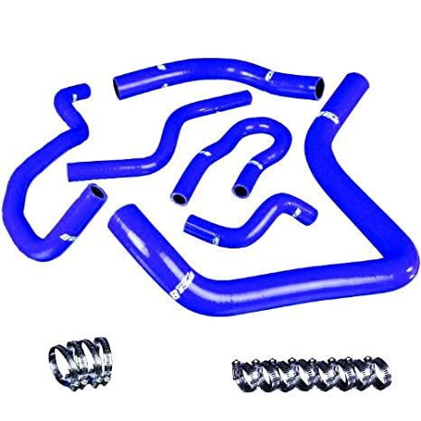 UPGR8 U8913-5-03 92-00 Civic//94-01 Integra B16A//B16B//B18A//B18B High Performance 4-PLY Blue Radiator and Heater Silicone Hose Kit
