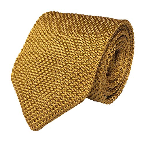 Secdtie Men Classic Wine Red Textured Knit Woven Silk Tie Casual Smart Necktie ()