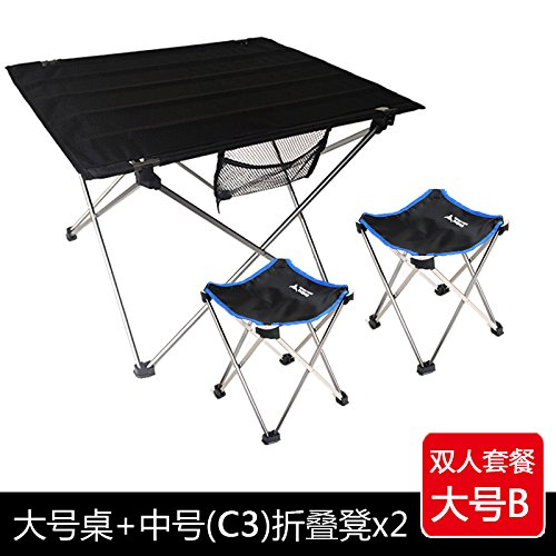 Outdoor BBQ picnic table chair portable camping light aviation aluminum table