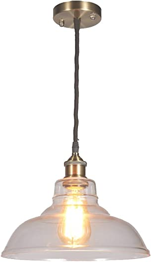 New Galaxy Lighting Modern Industrial Edison Vintage Style Pendant 1-Light Hanging Ceiling Lighting Lamp