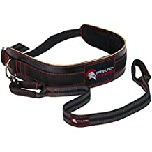 Leather Weightlifting Dip Belt for Weighted Tricep Dips and Pull Ups with Heavy Duty Dipping Weight Strap Attachment & Adjustable Buckle - Stronger Than Polypro or Nylon Fitness Workout Power Belts