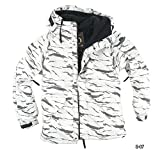 myglory77mall Mens Camouflage Hooded Weatherproof Winter Snowboard Ski Jacket US XL(2XL tag) S07