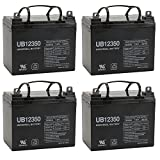35AH 12V DC DEEPCYCLE SLA SOLAR ENERGY STORAGE BATTERY - 4 Pack