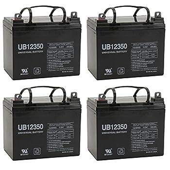 12V 35Ah Rascal 445PC, 600C, 600F, 600T Battery - 4 Pack