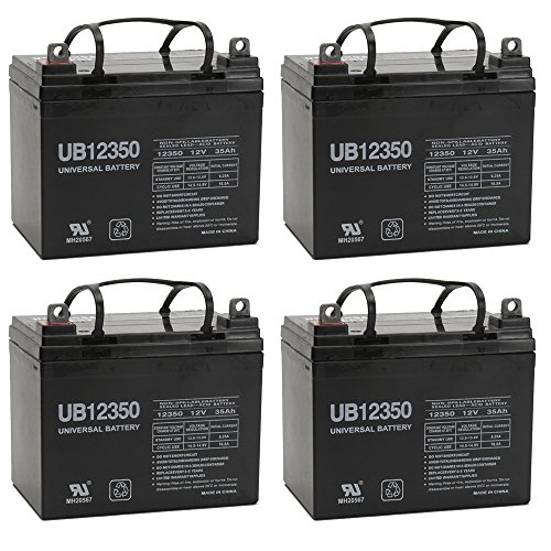 35AH 12V DC DEEPCYCLE SLA SOLAR ENERGY STORAGE BATTERY - 4 Pack by Universal Power Group