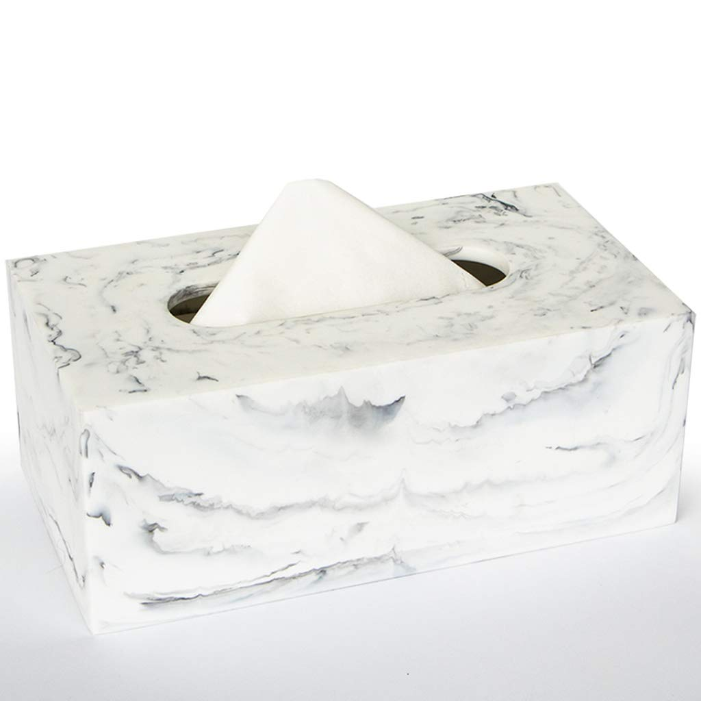 UCYG Nordic Tissue Box Resin Paper Towel Holder Fashion Shape Desktop Decoration Napkin Container Bathroom Kitchen Living Room Tissue Box (Color: White), 22128.5cm by UCYG