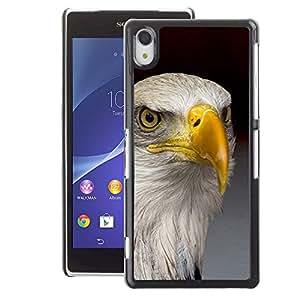 A-type Arte & diseño plástico duro Fundas Cover Cubre Hard Case Cover para Sony Xperia Z2 (Eagle America Freedom Bird National Gold)