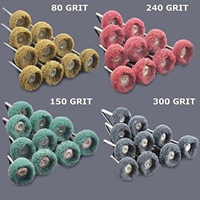 "Rotary Tools 80 PC 1"" (25mm) Abrasive Wheel Buffing Polishing Wheels fits DREMEL Rotary Tools"