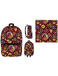 Five Nights at Freddys Checkered Allover Print Backpack Bookbag