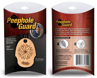 Peephole Guard   Covers Peepholes For Privacy.