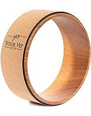YOUR VIP SKIN - Kurk Yoga Wiel - Duurzaam Natuurlijk Ecologisch Antislip Yoga Wiel - Kurk Yoga Ring Yoga, Pilates, Fitness voor stretching, flexibiliteit, houding