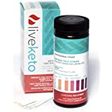 LiveKeto Ketone Strips + BONUS eBook - Professional Grade Urinalysis Strips for Ketosis Measurement with Atkins, Paleo, Low Carb Diets. 100ct includes 50 Sealed Ketostrips to Extend Product Accuracy